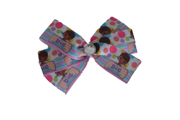 Doc McStuffins Polka Dot Bow (Disney) - Dream Lily Designs