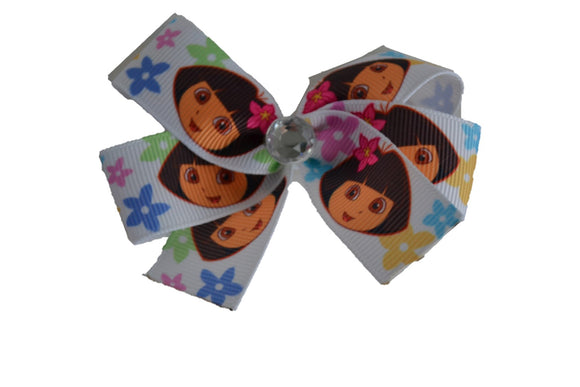 Dora Flowers White Bow (Misc Characters) - Dream Lily Designs