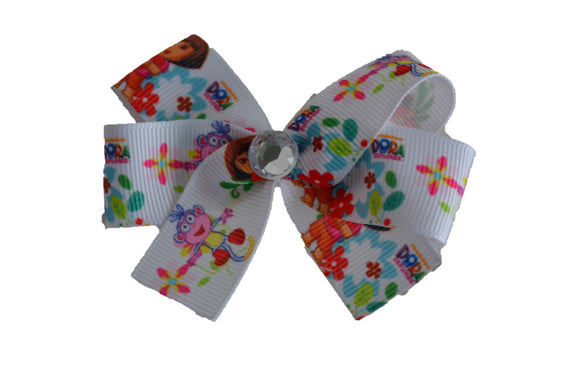 Dora Boots White Bow (Misc Characters) - Dream Lily Designs
