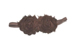 Brown Double Shabby Headband - Dream Lily Designs