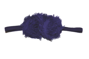 Royal Purple Double Shabby Headband - Dream Lily Designs