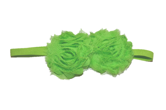 Green Double Shabby Headband - Dream Lily Designs