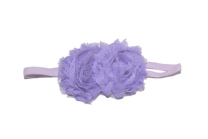 Light Purple Double Shabby Headband - Dream Lily Designs