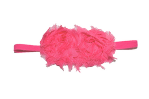 Hot Pink Double Shabby Headband - Dream Lily Designs
