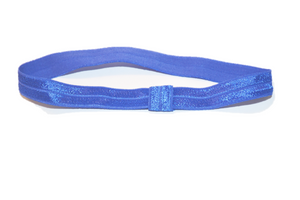 "Blue .5"" Inch Elastic Headbands"