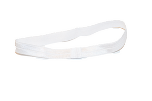 "White .5"" Inch Elastic Headbands - Dream Lily Designs"