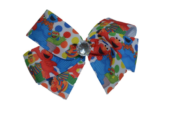 Elmo Bert Ernie Cookie Monster Sesame Street Bow (Misc Characters) - Dream Lily Designs