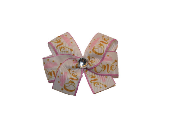 1 Inch First Birthday One Princess Pattern Bow (Misc Patterns) - Dream Lily Designs