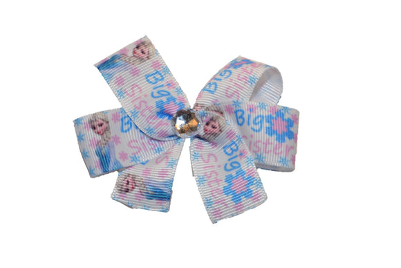 Big Sister Elsa Princess Disney Bow (Sister) - Dream Lily Designs