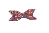 Pink Glitter Leather Large Bow - Dream Lily Designs