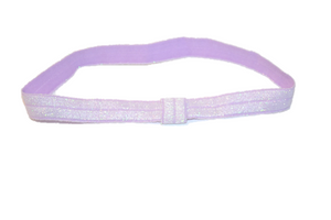 "Light Purple .5"" Glitter Elastic Headband - Dream Lily Designs"