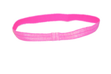 "Neon Hot Pink .5"" Glitter Elastic Headband - Dream Lily Designs"