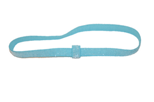 "Light Blue .25"" Glitter Elastic Headband - Dream Lily Designs"
