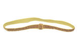 "Gold .25"" Glitter Elastic Headband - Dream Lily Designs"