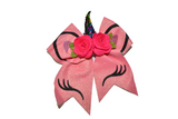 Glitter Pink Large Unicorn Bow - Dream Lily Designs