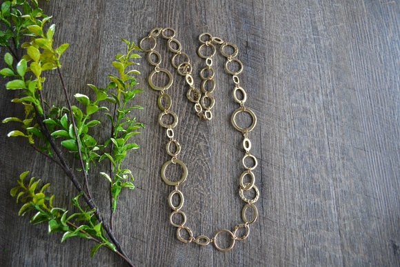 Gold Loops Women's Necklace - Dream Lily Designs