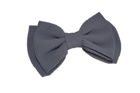 Grey Nylon Fabric Double Bowtie 4