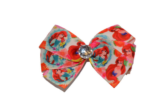 Ariel Little Mermaid Teal Red Princess Bow (Disney)