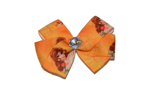 Belle Yellow Gold Beauty and the Beast Princess Bow (Disney) - Dream Lily Designs