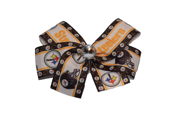 Pittsburgh Steelers Black Gold Bow (Sports Teams)