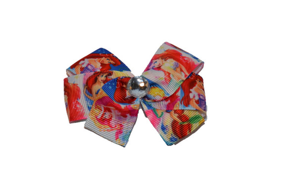 Ariel Little Mermaid Squares Princess Bow (Disney)