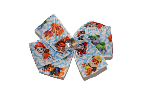 Paw Patrol Blue Bones Bow (Misc Characters) - Dream Lily Designs