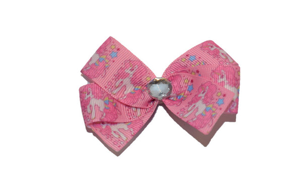 Pink Horse Star Unicorn Bow (Animal) - Dream Lily Designs