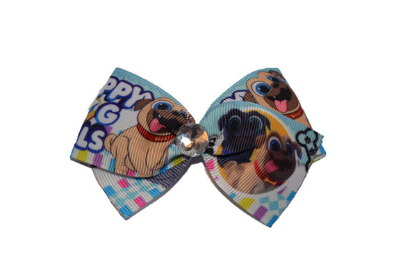 1.5 inch Puppy Dog Pals Diamond Bow (Disney) - Dream Lily Designs