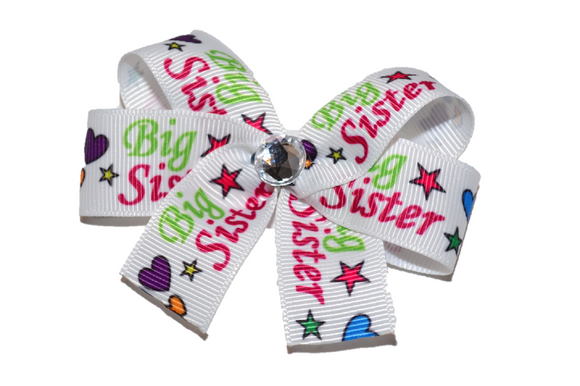 Big Sister Heart Bow (Sister) - Dream Lily Designs