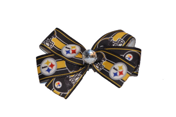 Pittsburgh Steelers Gold Stripe Bow (Sports Teams)
