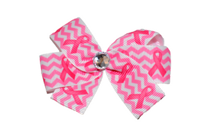 Breast Cancer Chevron Bow (Misc Patterns) - Dream Lily Designs