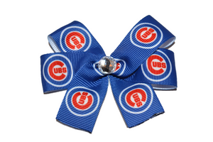 Simple Cubs Bow (Sports Teams) - Dream Lily Designs