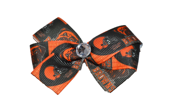 Cleveland Browns Bow (Sports Teams) - Dream Lily Designs