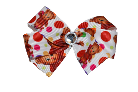 Daniel Tiger Bow (Misc Characters) - Dream Lily Designs