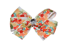 Fall Leaves Bow (Fall) - Dream Lily Designs