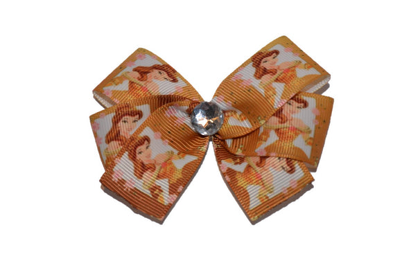 Belle Gold Beauty and the Beast Princess Bow (Disney) - Dream Lily Designs