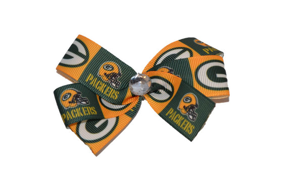 Green Bay Packers Bright Gold Bow (Sports Teams)