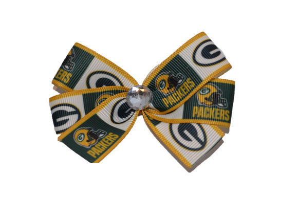 Green Bay Packers Gold Bow (Sports Teams)