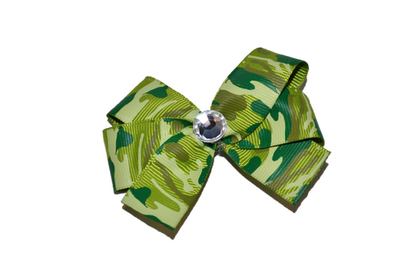 Army Camo Green Bow (Service) - Dream Lily Designs