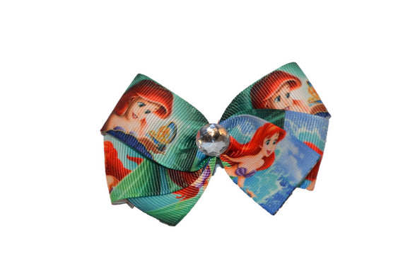 Ariel Little Mermaid Teal Princess Bow (Disney)