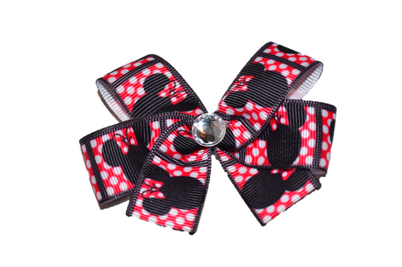 Red Polka Dot Minnie Bow (Minnie)