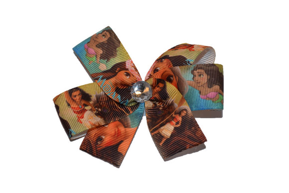Moana Brown Teal Princess Bow (Disney)