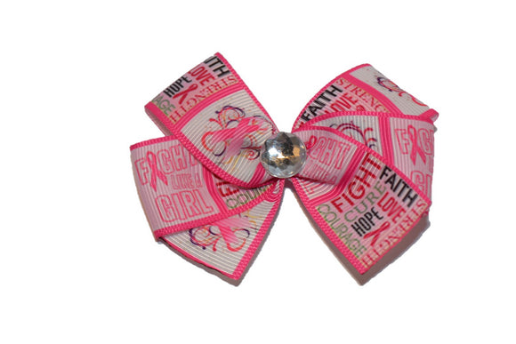 Breast Cancer Pink Pattern Bow (Misc Patterns) - Dream Lily Designs