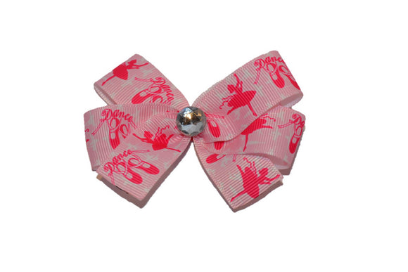 Pink Ballet Dancer Bow (Sports) - Dream Lily Designs