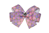 Pink and Purple Mermaid  Scales Bow (Misc Patterns) - Dream Lily Designs