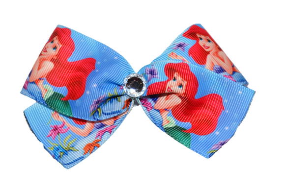 Ariel Little Mermaid Wide Blue Bow (Disney)