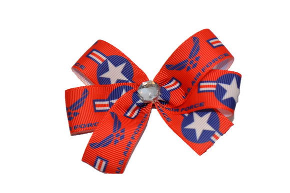 Red Air Force Bow (Service) - Dream Lily Designs