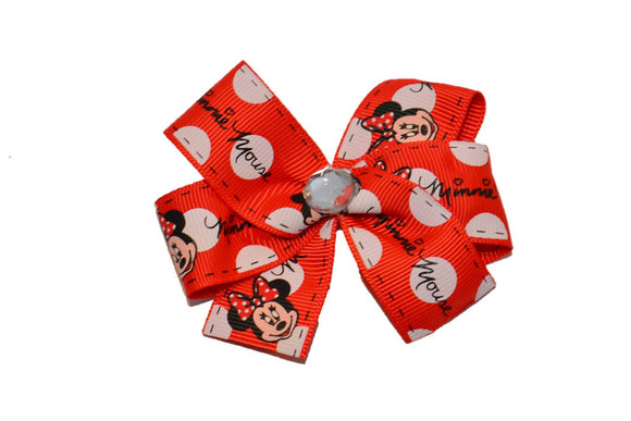 Red Minnie Autograph Hair Bow (Minnie)