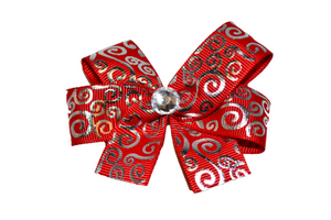 Silver Detail on a Red Bow (Misc Patterns) - Dream Lily Designs