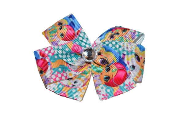 Shimmer and Shine Polka Dot Pink Teal Bow (Misc Characters)